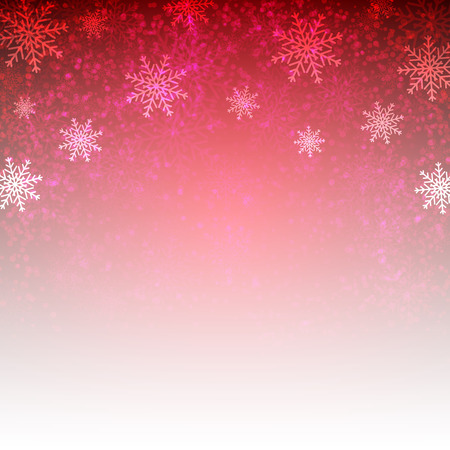 Red background with  snowflakes. Vector illustration for  posters, icons, greeting cards, print and web projects. Illustration