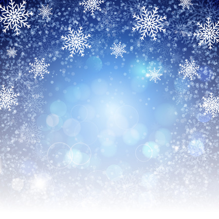 Christmas background with snowflakes. Vector illustration for Christmas posters, icons, Christmas greeting cards, Christmas print and web projects.