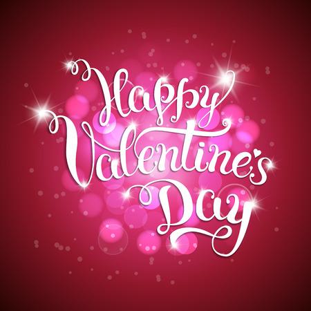 letras de la mano original del día de San Valentín feliz. ilustración vectorial para el día de San Valentín carteles, iconos, tarjetas de felicitación del día de San Valentín, día de San Valentín de impresión y proyectos web.