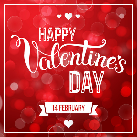 """Letras de la mano original """"Feliz día de San Valentín"""". Ilustración del vector para Pósteres San Valentín, iconos, tarjetas de felicitación día de San Valentín, día de San Valentín de impresión y proyectos web."""