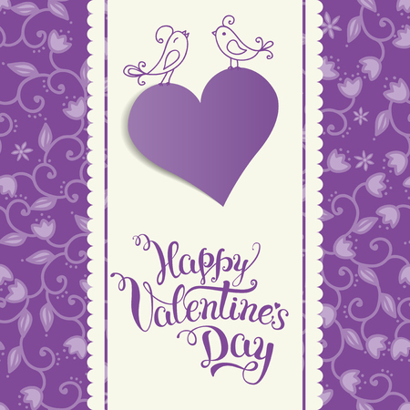 Original hand lettering Happy Valentines day. Vector illustration for Valentines day posters, icons, Valentines day greeting cards, Valentines day print and web projects.