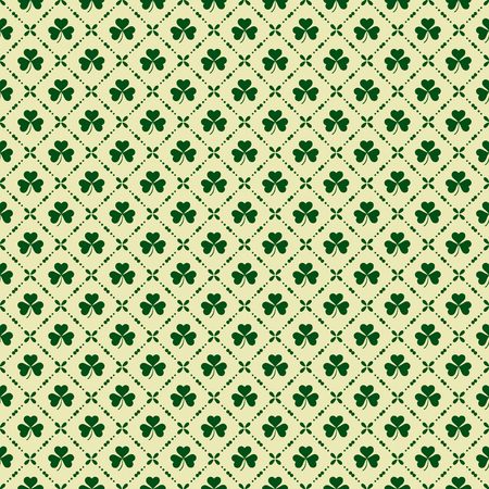 Green clover background for St. Patricks Day. Seamless pattern. Illustration for St. Patrick's day posters, greeting cards, print and web projects.
