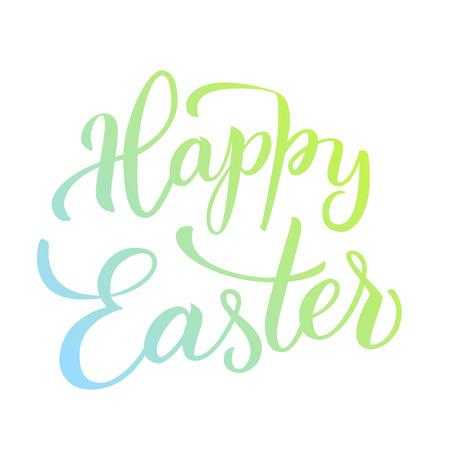 Original hand lettering Happy Easter. Vector illustration print and web projects. Ilustração Vetorial