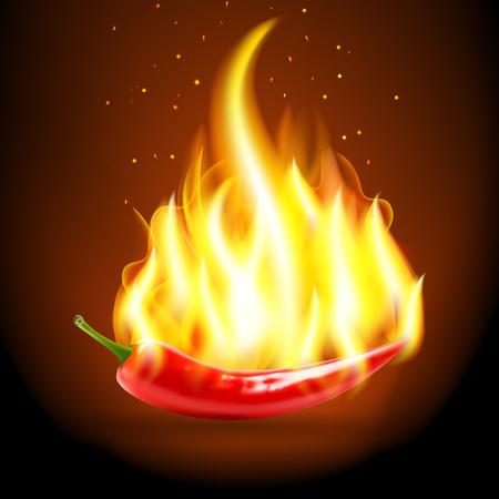 Burning Chili Pepper.