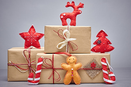 gift boxes christmas decorations gingerbread men candy cane reindeer fir tree - Christmas Decorations Gingerbread