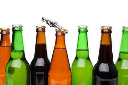 bottlenecks: Different bottlenecks with a bottle opener