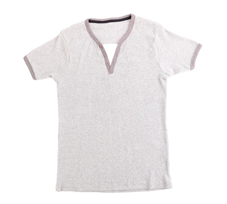 collarless: Polo Shirt no collar on the white background