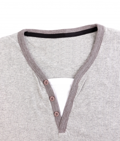 collarless: Polo Shirt no collar close-up on the white background