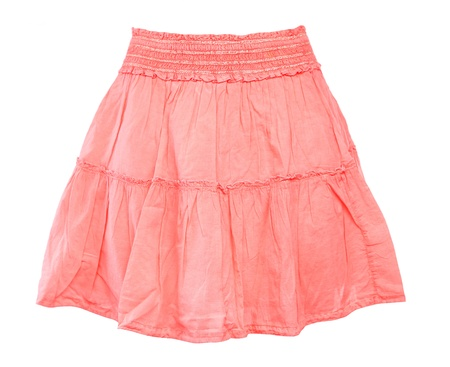 A pink skirt for girl, isolated on a white background photo