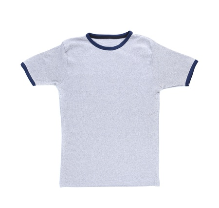 A white t-shirt isolated on a white background photo