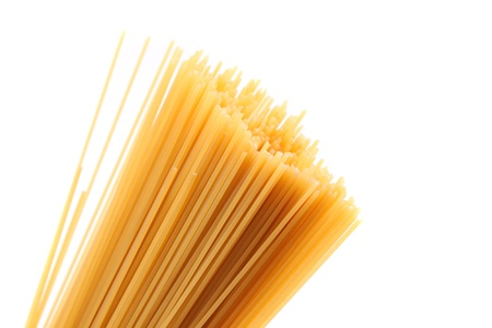 Italian pasta, on white background photo