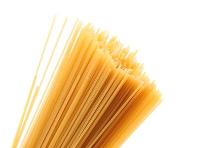 Italian pasta, on white background photo