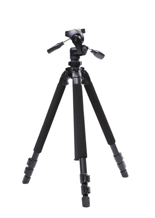 Black tripod, isolated on a white background