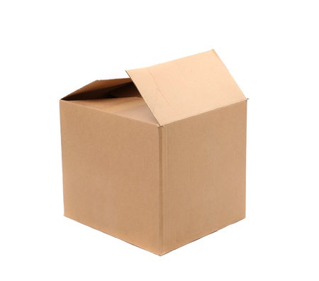 cardboard box: Corrugated cardboard boxes on a white background