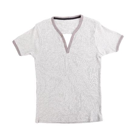 Polo Shirt no collar on the white background. photo