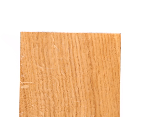 basswood: Top board of oak tree on a white background