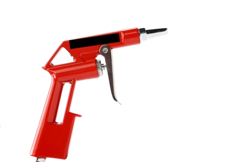 airbrushing: Pistola aislada sobre un fondo blanco
