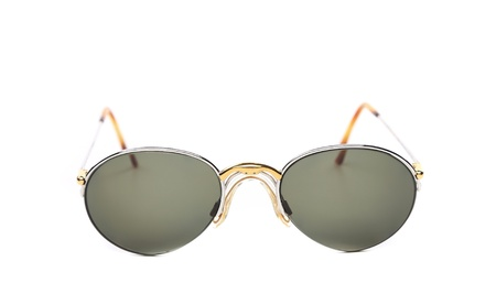 black sunglasses isolated on a white bacground photo