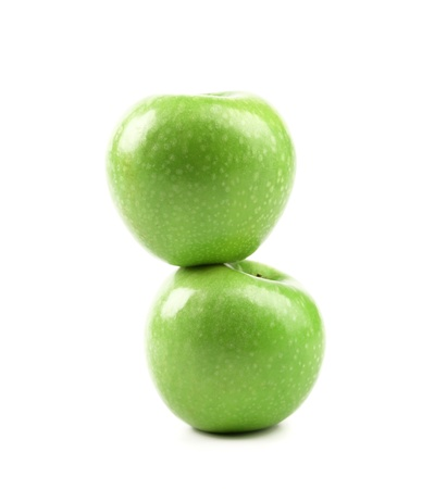 granny smith: Granny Smith of apple from low perspective.