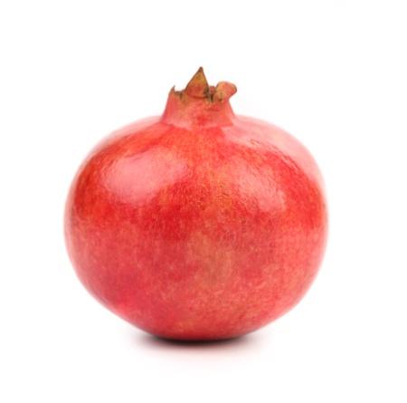 Pomegranate isolated on white background. Close up.