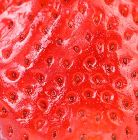 sappy: Extreme macro of strawberry texture - background Stock Photo
