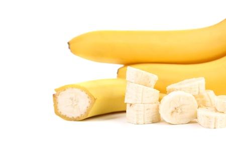 Bananas isolated on a white background photo