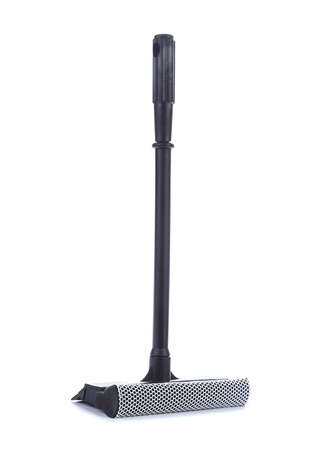 Mop for cleaning windows on a white background. photo