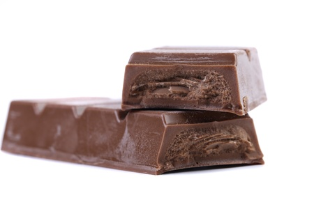 endorphines: Bar of chocolate. Isolated on a white background.