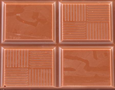 Milk chocolate bar as background. Macro. Whole background. photo