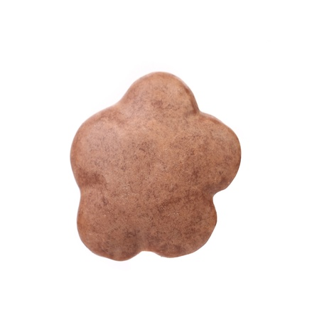 kiss biscuits: Chocolate meringue in the form of a flower. White background. Stock Photo