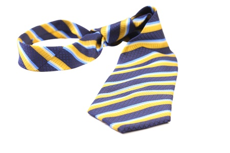 Tie a colorful striped. Isolated on a white background. photo