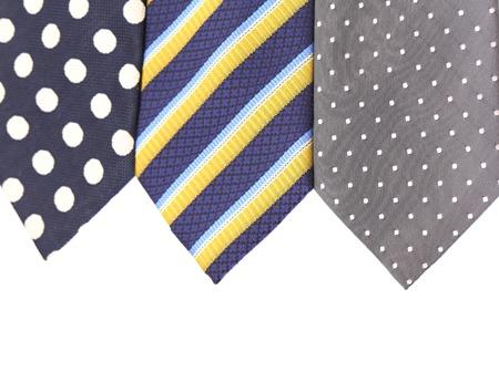 Background of three  multi-colored tie. Half background. photo