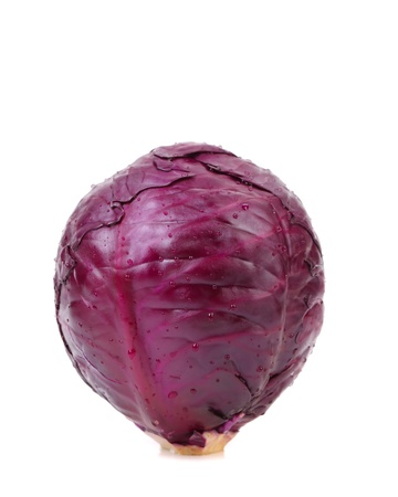 cabbage patch: Violet cultivated cabbage isolated on a white background. Stock Photo