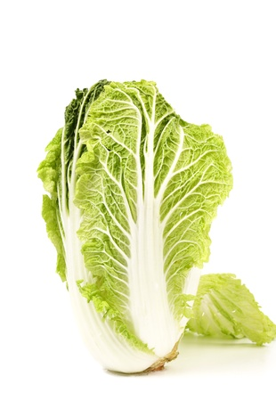 Chinese cabbage isolated on a white background photo