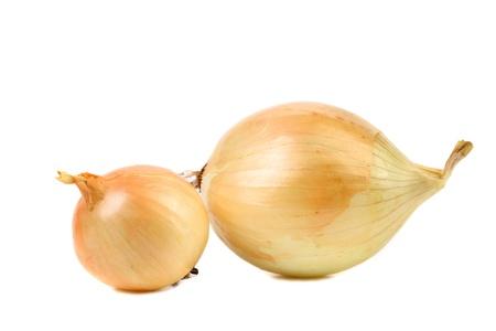 goldish: Goldish onions isolated on a white background..