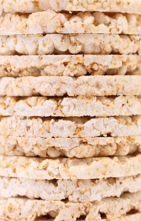 galettes: Background of corn crackers. Texture. Whole background. Stock Photo