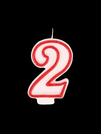velitas de cumpleaños: Vela en forma de dos figuras. Fondo negro.