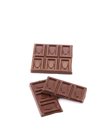 Chocolate bars isolated on a white background Stock Photo - 21593186