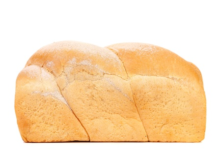 fresh slice of bread: White bread loaf isolated on a white background