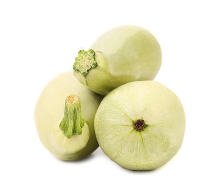 Fresh vegetable marrow. Isolated on a white background. Stock Photo