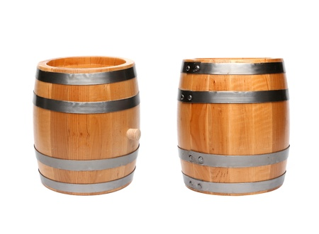 Two barrel. Isolated on a white background. photo
