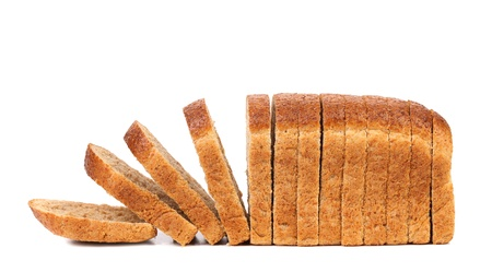 sliced bread isolated on a white background photo