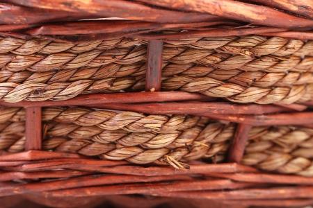 Background of wickerwork. Close up. Whole background. Stock Photo