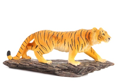 tigre: Tidre on stone. Isolated on a white background.