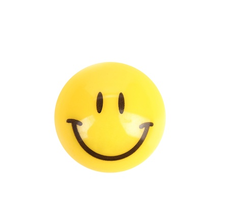favourable: Smile button. Isolated on a white background.