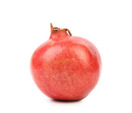 pommegranate: Red pomegranate isolated on a white background Stock Photo