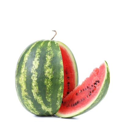 Big watermelon isolated on a white background photo