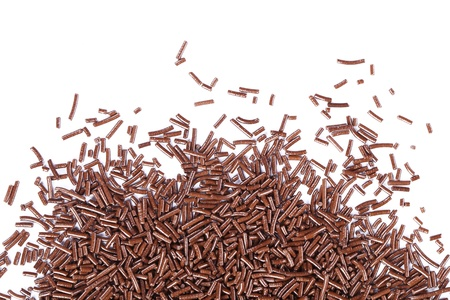 Chocolate sprinkles isolated on a white background Stock Photo
