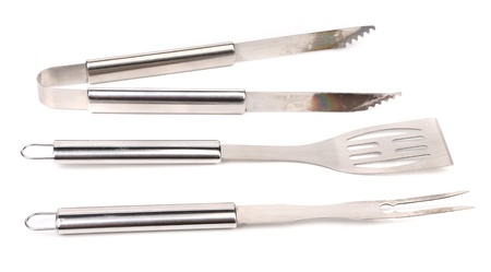 Grill Utensils isolated on a white background.