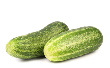 Two cucumbers. Isolated on a white background. photo